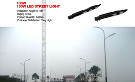 100w/150w led street light project in China