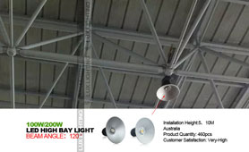 100w/200w led high bay light project in Australia