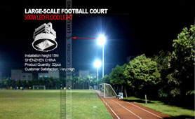 500w led floodlight Applications in Community Health Sports Center lighting project