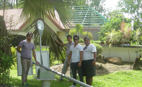 Solar street lighting project in Thailand