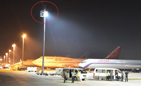 LED floodlights use airports in Denmark