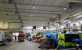 Manufacturing shop lighting project in Spain