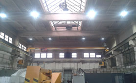 Manufacturing workshop lighting project in Chile